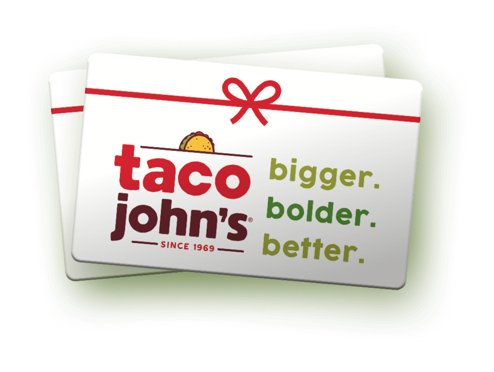 image of a taco john's giftcard