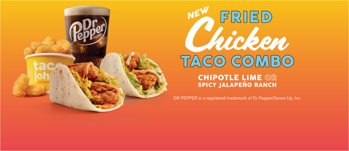 NEW Fried Chicken Tacos Combo