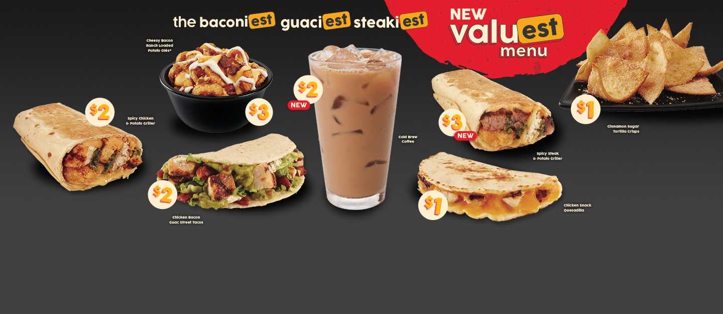 NEW ValuEST Menu with $2 Cold Brew Coffee and $3 Spicy Steak & Potato Griller